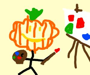 pumpkin grafitti artist