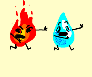 Raindrop scared of fire