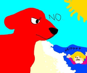 Clifford wants his owner to drown at beach