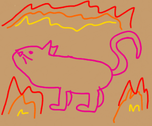 pink panther burns in hell