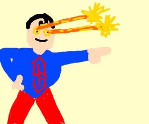Superman uses heat vision