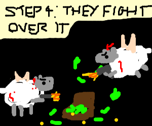Step 3: Flying sheep robbed a bank
