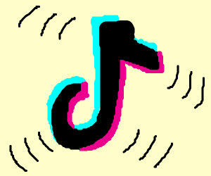 vibrating tik tok logo