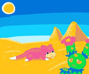 Slowpoke in the desert