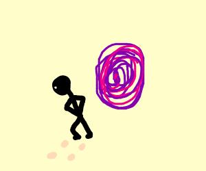 moonwalking into a portal