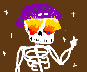 lit skeleton