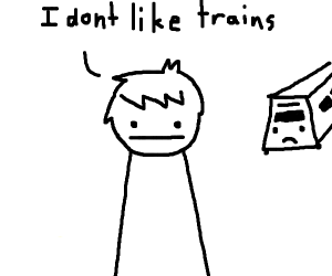 Kid doesn't like Trains