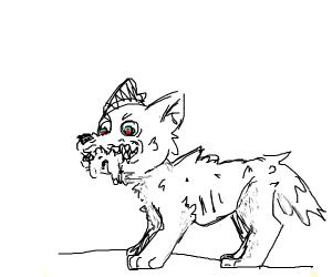 floofy angry doggo