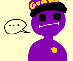 fnaf purple guy has no pupills