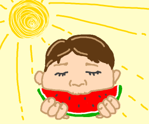 Eating Watermelon in the Sun