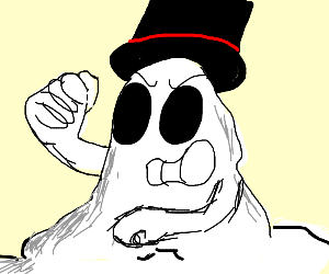Melting Ghost with tophat