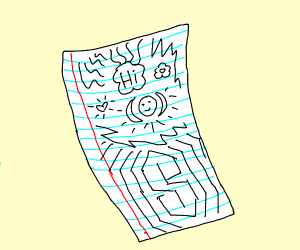 doodles on lines paper ft. that s symbol