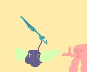 Meta Knight holding sword