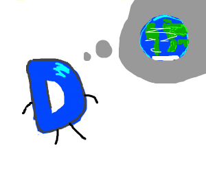 D thinking about earth