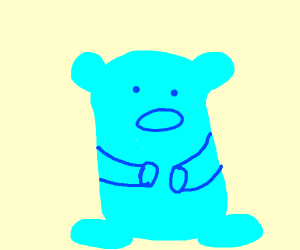 Blue gummy bear