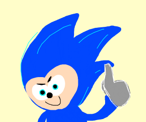 Sonic gives 2 thumbs up