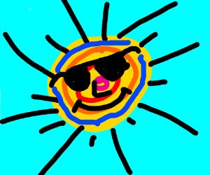 Get a Colorful Sun w/ Black Sun Rays & Shades