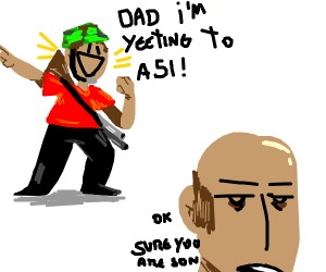 Kid says he's yeeting to A51,dad ignores him