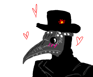 18th century plague doctor is in love