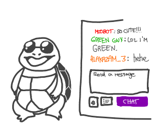not colored squirtle with chat