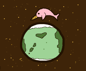 Space narwhal orbits earth