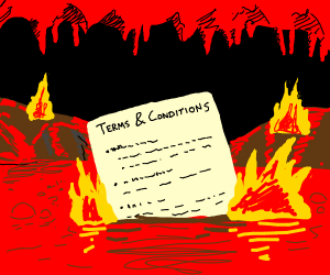 Terms and conditions to get into hell
