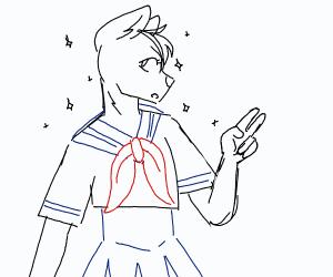 Furries but Anime Girls