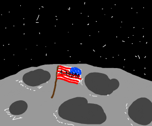 BACKWARDS AMERICA IS ON THE MOON