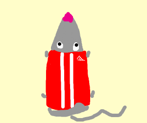 mouse with a jumpsuit