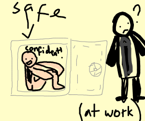 You can be confident in safe for work nudity