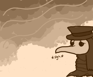 Plague doctor wants to swim