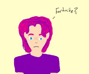 Fortnite virgin with pink hair