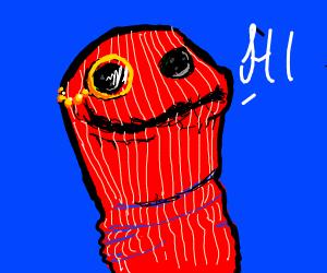 dapper red sockpuppet says hi