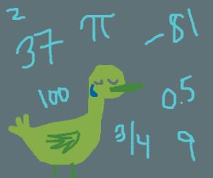 numbers make duck sad