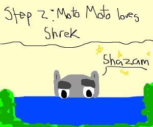 Step 1 Moto moto says Shazam