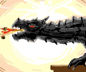 Dragon vomiting spaghetti