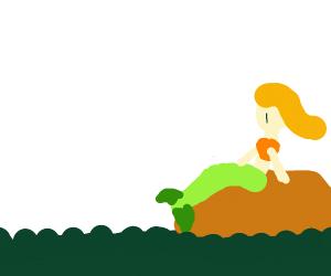 Mermaid On a Rock