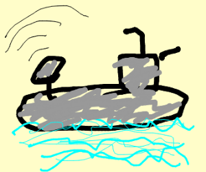 Submarine using Sonar