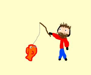 conspiracy man caught a fish