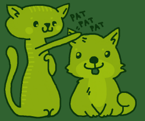 Cats pattin' doges