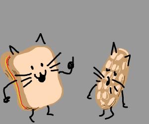 peanut butter jelly cat bullying at wafflecat