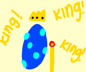 Blue king egg