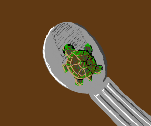 Small Turtle in SPOON