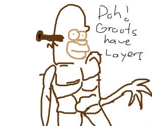If Shrek, Homer, and Groot had a baby