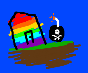 rainbow house with bom