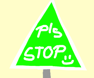 Unconventional Stop Sign