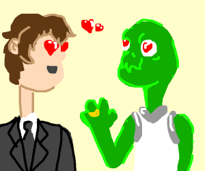 Dave marries the Alien of his dreams