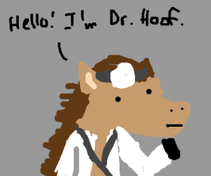Horse became a doctor