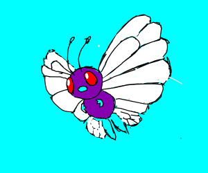 Can you draw my favorite pokemon butterfree?