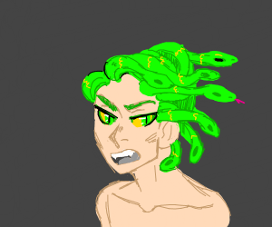 This could be Medusa OR anime manWsnakes hair